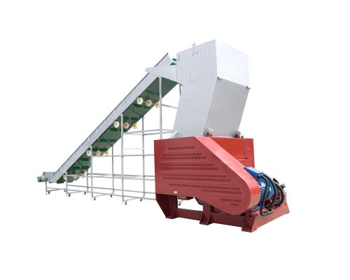 Plastic Crusher with Conveyor